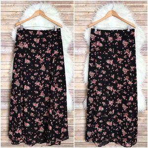 NWT Torrid Floral Chiffon Maxi Skirt Plus Size 24